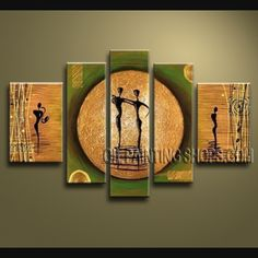 Large Modern Abstract Painting Hand Painted Art Paintings For Living Room This 4 Panels Canvas Wall Is By AQiang Insto