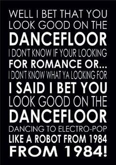 I Bet You Look Good On The Dancefloor Arctic Monkeys Print Poster A4 by Lana's Art Personalised Prints, http://www.amazon.co.uk/dp/B00GO9NUVW/ref=cm_sw_r_pi_dp_NKpftb0SPXXX7