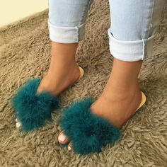 Fur Slides are trending this Summer '16 Shop the look today  Search: SANDAL   CICIHOT.COT