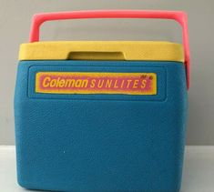Vintage Coleman Personal 8 Cooler 5272 White Blue Lunchbox for sale online Retro Camping, Clorox Wipes, Can Holders, Pink Yellow, Blue, Coolers, Lunch Box, Neon, Ebay