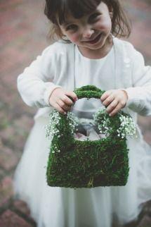 Lovely little greenery handbag for the flower girl | Style me Pretty