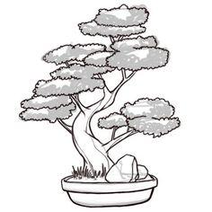 japanese bonsai tree drawings - Google Search | 2 dessin | Pinterest ...