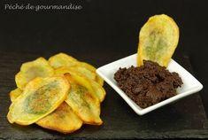 Chips de pommes de terre aux anchois et basilic d'après Éric fréchon