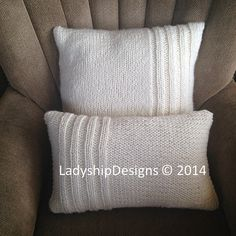 Rib Panel 12x20 and 20x20 Chunky Pillow Cover by LadyshipDesigns