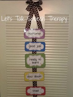 Let's Talk Speech Therapy: I pinned it, I did it:Behavior chart tutorial. Easy, cost effective, and cute!