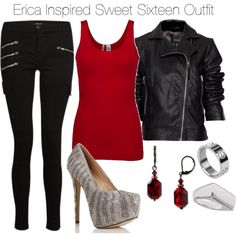 Erica Inspired Sweet Sixteen Outfit by veterization on Polyvore featuring moda, BKE, MANGO, J Brand, Forever 21, Dabby Reid and Lori's Shoes