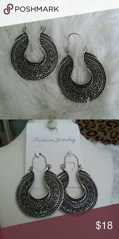 """Beautiful Indonesian Silver Earrings Looking for something special? Well take these. These earrings are beautifully designed with beautiful detail.  They hang 2 1/8"""" long and are 1 1/2"""" wide. JSB Jewelry Jewelry Earrings"""