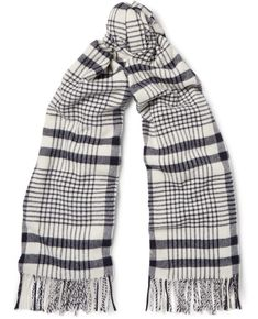Acne Studios Canada Checked Virgin Wool Scarf. Buy for $210 at MR PORTER.