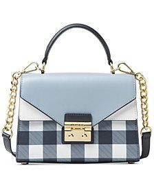 cb38a1c73d10 MICHAEL Michael Kors Sloan Gingham Small Top-Handle Satchel, Created for  Macy's Spring Fashion