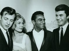 Bobby Darin, Sandra Dee, Johnny Mathis and James Darren - early 60s