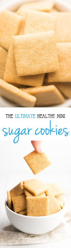 The ULTIMATE Healthy Soft Sugar Cookies -- sweet, buttery & only 18 calories! This recipe is SO easy! No mixer required! You'll never make any other sugar cookies again!