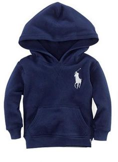 Pony Logo Hoodie - Navy Available to order at www.ellamode.co.uk