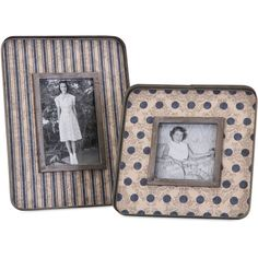 Mayberry Galvanized Picture Frame Set of 2 (535 HRK) ❤ liked on Polyvore featuring home, home decor and frames
