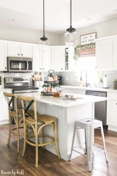 A Simple and Neutral Holiday Kitchen via House by Hoff