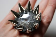Spiked Crystal Ring