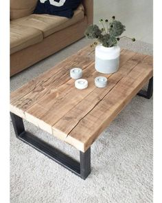 mesa industrial madera reciclada