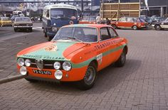 Rob Slotemaker-Ferrie van der Geest Tulpen Rallye 1970 1750 GTAm met extra lampen en cartervanger