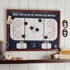Hockey Magnet Wall Organization