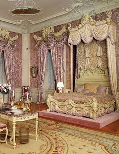 Sleepy Head's Fantasy (Series II) Karl Lagerfeld's Apartment Paris, France Ceremonial Bedroom of Pauline Borghese Palace Saint-Cloud, France New. Dream Rooms, Dream Bedroom, Bedroom Sets, Bedroom Decor, Marble House, Palace Interior, Fancy Houses, Suites, Luxurious Bedrooms