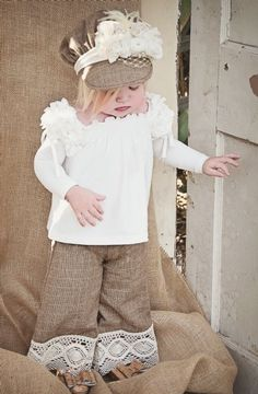 Vintage Hazel CollectionHat, Top, Pant & Shoe All Available!12 Months to 12 YearsMatching Mommy Top Too!