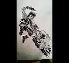 Sketch Wolverine and Sabertooth