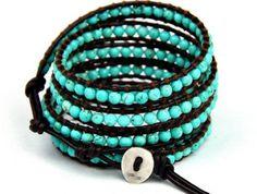 Turquoise & Leather Wrap Bracelet - http://www.amazon.com/BlueTop-Fashion-Turquoise-Bracelet-Necklace/dp/B00KCJYZMS/ref=as_sl_pc_ss_til?tag=thesmut-20&linkCode=w01&linkId=I26NHQJKK63N5LZJ&creativeASIN=B00KCJYZMS