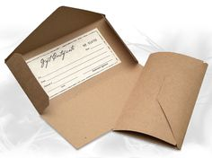 Image result for Brown Kraft Paper Fold Over Card for Jewelry