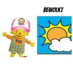 Weerkaart puk bewolkt Eeyore, Tweety, Dutch, Stage, School, Winter, Fictional Characters, Winter Time, Dutch Language
