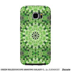GREEN KALEIDOSCOPE SAMSUNG GALAXY CASE