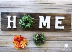 Make your own Interchangeable Wreath Home Sign – walnuthollowcrafts Diy Letters, Wood Letters, Interchangeable Wreath, Letter Wreath, Joy Sign, Wood Signs For Home, Different Kinds Of Art, Cute Signs, Rustic Signs