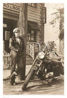 "Marlon Brando (1953) -- from the movie, ""Wild One"""