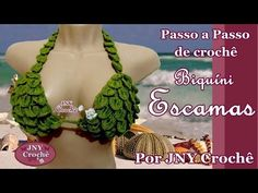 PAP Biquíni de crochê Escamas por JNY Crochê - YouTube