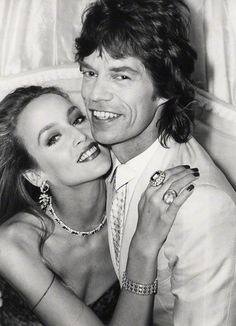 Mick Jagger and Jerry Hall -   by Norman Parkinson  bromide fibre print, July 1981