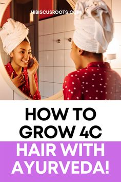 Tips for 4c hair growth, and how to grow 4c natural hair with ayurvedic herbs! 4c Hair Growth, Herbs For Hair Growth, Hair Remedies For Growth, Natural Hair Growth, Natural Hair Styles, How To Grow Your Hair Faster, How To Grow Natural Hair, Long Natural Hair, Diy Hair Mask