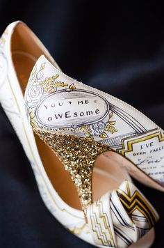 If you want to show some personality with your wedding footwear, you will love Figgie Shoes.   These Gorgeous Wedding Shoes Will Make You Want To Get Married