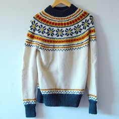Vintage Nordic Wool Sweater by TwoHandToo on Etsy
