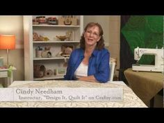 """Meet Cindy Needham, instructor for the Craftsy quilting class, """"Design It, Quilt It"""". Click: http://www.craftsy.com/ext/Pin_BP_20120903"""