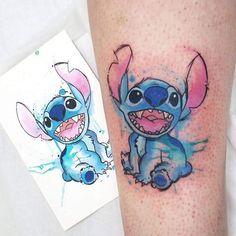 I love Stitch Bff Tattoos, Future Tattoos, Body Art Tattoos, Sleeve Tattoos, Tattos, Lilo And Stitch Tattoo, Lilo Y Stitch, Pretty Tattoos, Beautiful Tattoos