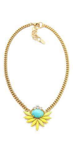 Elizabeth Cole cluster necklace.