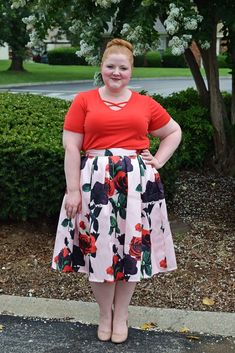 cdda63667b A Pair of Floral Skirts from Your Big Sister's Closet. Plus Size ...