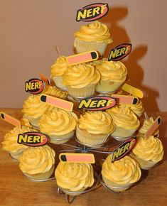 Nancy's Craft Spot: Carter's Nerf Cupcakes