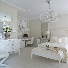 don't like the square knobs otherwise this is a modern bedroom