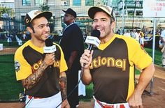 Yesterday at the Celebrity Softball Game in Petco Park