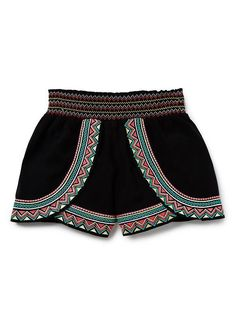Teen Girls Shorts   Embroidered Short   Seed Heritage
