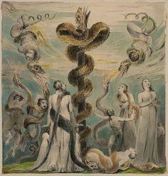 William Blake - Moses erecting the Brazen Serpent 1803