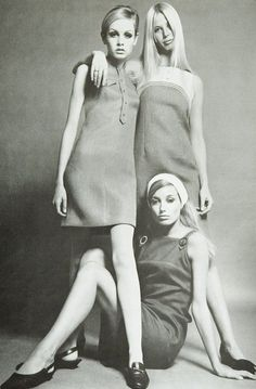 Fashion supplement featuring Twiggy, 1960s