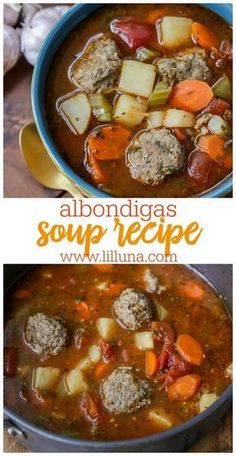 Albondigas Soup Albondigas soup is a delicious Mexican recipe filled with meatballs vegetables and spices! Packed full of flavor this simple Albondigas soup is sure to become a favorite. The post Albondigas Soup appeared first on Rezepte. Healthy Recipes, Healthy Soup Recipes, Cooking Recipes, Cooking Rice, Healthy Nutrition, Drink Recipes, Keto Recipes, Dessert Recipes, Authentic Mexican Recipes