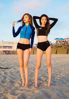 Best 10 Long Sleeve High Waist Swimwear Suit Korean Beach Wear Split Mode Swimsuit Two Piece Bikinis Sexy Bathing Suit Push Up 61887 – SkillOfKing.Com Bikini Mode, Mädchen In Bikinis, Cute Asian Girls, Lingerie, Beautiful Asian Women, Korean Model, Swimsuits, Swimwear, Mode Style