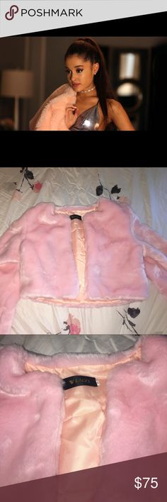 **RARE** Pink Fur Coat ♡ This is the pink fur coat that Ariana Grande wore in Scream Queens! This is in a size medium, but I've noticed it fits people who are a size small as well! This has only been worn ONCE. It is in perfect condition and you won't be able to find this jacket anywhere else! Since this is extremely rare that is why the price is so high, but feel free to make an offer because I'm always willing to look at it! xoxo Nasty Gal Jackets & Coats