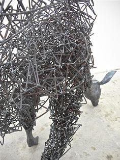 Amazing Sculptures from Steel Wires